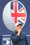 Francesco Molinari of Italy reacts during the British Masters 2018 at Walton Heath Golf Course, Walton On the Hill, Surrey  on 11 October 2018. Picture by Martin Cole.