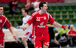 14.01.2011, Scandinavium, Göteborg, SWE, IHF Handball Weltmeisterschaft 2011, Herren, Polen vs Slovakei, im Bild, // 22 Marcin LIJEWSKI celebrates after scoring in the first half // during the IHF 2011 World Men's Handball Championship match Poland vs Slovakia at Scandinavium in Gothenburg. EXPA Pictures © 2011, PhotoCredit: EXPA/ Skycam/ Per Friske +++++ ATTENTION - OUT OF SWEDEN/SWE +++++