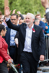 © Licensed to London News Pictures. 07/06/2017. London, UK. JEREMY CORBYN waves to Labour supporters in Watford after addressing a rally the day before Britain heads to the polls for the General Election. Photo credit: Rob Pinney/LNP