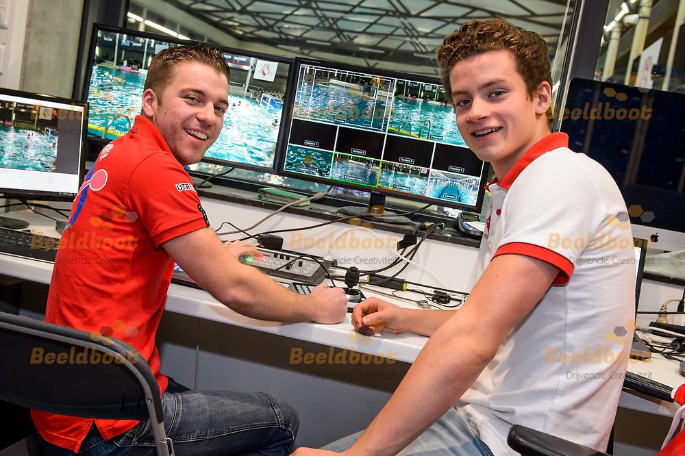 02-12-2017: Waterpolo: Eurocup: dag 2: Utrecht<br /> <br /> Beeld van de organisatie van de eerste kwalificatieronde van de Euro League in Zwembad de Krommerijn in Utrecht op 2 december 2017.<br /> <br /> LEN Euro League - Seizoen 2017 / 2018 <br /> <br /> Foto / Photo: Gertjan Kooij