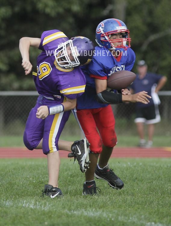 Warwick plays at Goshen in an Orange County Youth Football League Division II football game on Sunday, Sept. 6, 2009.
