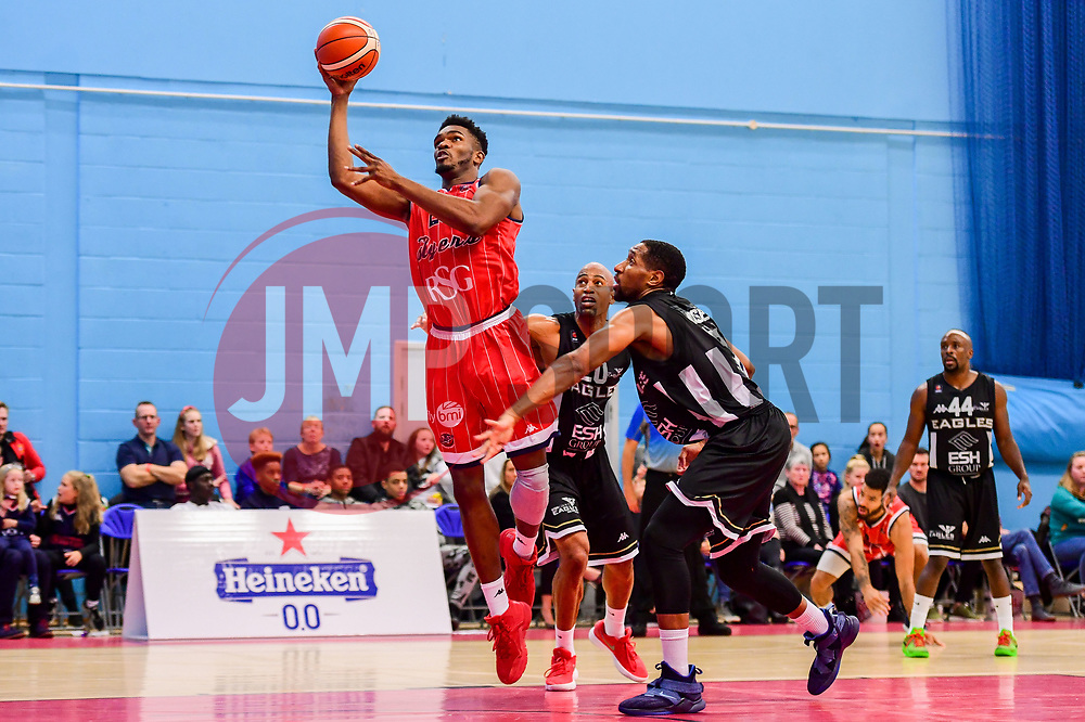 Marcus Delpeche of Bristol Flyers - Photo mandatory by-line: Ryan Hiscott/JMP - 03/11/2018 - BASKETBALL - SGS Wise Arena - Bristol, England - Bristol Flyers v Newcastle Eagles - British Basketball League Championship
