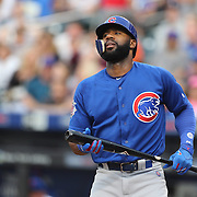 NEW YORK, NEW YORK - July 01: Jason Heyward #22 of the Chicago Cubs batting during the Chicago Cubs Vs New York Mets regular season MLB game at Citi Field on July 01, 2016 in New York City. (Photo by Tim Clayton/Corbis via Getty Images)