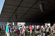 Crowd of fans at the Gobi tent at the 2010 Coachella Music Festival in Indio, CA on Friday, April 16, 2010.
