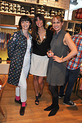 Left to right, GEORGIA COLERIDGE, LISA BILTON and KAREN DOHERTY at a ladies lunch in aid of Mothers4Children hosted by Carmelbabyandchild at 259 Pavillion Road, London SW1 on 30th June 2011.