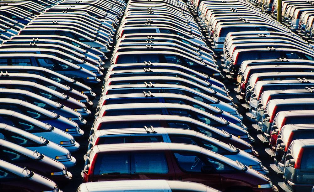 Hundreds of Minivans arrived and ready for distribution in Port Newark, NJ