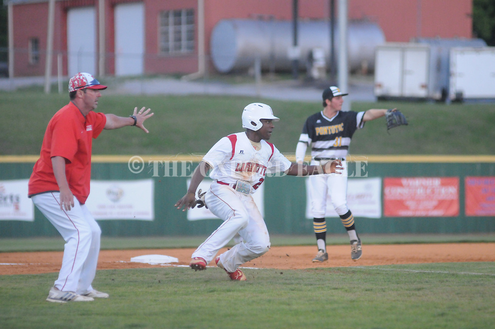 Lafayette High School vs. Pontotoc at W.V. Brewer Field in Oxford, Miss. on Friday, April 22, 2016.