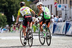 Diego Ulissi (ITA) of UAE Team Emirates and Vincenzo Albanese (ITA) of Bardiani CSF after 5th Stage of 26th Tour of Slovenia 2019 cycling race between Trebnje and Novo mesto (167,5 km), on June 23, 2019 in Slovenia. Photo by Matic Klansek Velej / Sportida