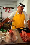 Butcher in Cienfuegos, Cuba.