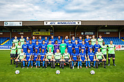AFC Wimbledon Team Photo during the official team photocall for AFC Wimbledon at the Cherry Red Records Stadium, Kingston, England on 8 August 2019.