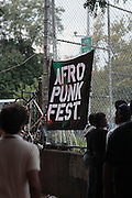 August 25, 2012-Brooklyn, NY: Atmosphere at the Afropunk Festival 2012 held in Brooklyn, NY on August 25, 2012. The Afropunk Festival has become a Brooklyn intuition, the focal point for the burgeoning Afro-punk movement. Over the past seven years, the festival has presented new artists before they hit it big, such as Grammy-nominated Santigold, The Noisettes and Janelle Monae. Afro-punk mainstays like Saul Williams, The Dirtbombs, and Dallas Austin have also graced Afro-punk's stages. (Terrence Jennings/TerrenceJennings.com)