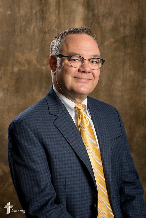 Headshot photograph of Ross Stroh, executive director of Accounting, in the studio of The Lutheran Church–Missouri Synod International Center on Tuesday, Aug. 26, 2014, in Kirkwood, Mo. LCMS Communications/Erik M. Lunsford
