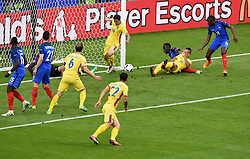 Bogdan Stancu of Romania is denied by Hugo Lloris of France  - Mandatory by-line: Joe Meredith/JMP - 10/06/2016 - FOOTBALL - Stade de France - Paris, France - France v Romania - UEFA European Championship Group A