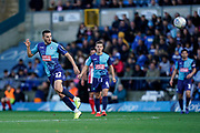 Nick Freeman of Wycombe Wanderers long pass during the EFL Sky Bet League 1 match between Wycombe Wanderers and Sunderland at Adams Park, High Wycombe, England on 19 October 2019.