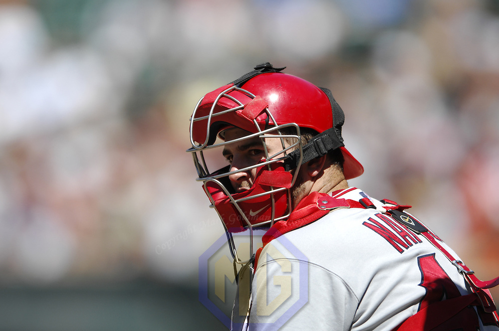 01 July 2007:  Los Angeles Angels catcher Mike Napoli (44) in action against the Baltimore Orioles.  The Angels defeated the Orioles 4-3 at Camden Yards in Baltimore, MD.   ****For Editorial Use Only****