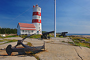 Pointe-des-Monts lighthouse<br /> Municipalité de Baie-Trinité<br /> Quebec<br /> Canada