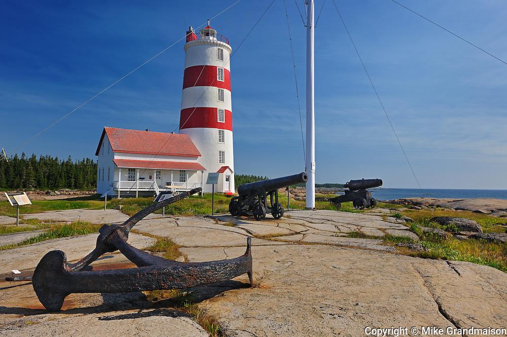 Pointe-des-Monts lighthouse<br /> Municipalité de Baie-Trinité<br /> Quebec<br /> Canada