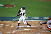 LOS ANGELES, CA - MARCH 22: Right fielder Ichiro Suzuki of Japan hits a ground ball to third base against USA in game two of the semifinal round of the 2009 World Baseball Classic at Dodger Stadium in Los Angeles, California on Sunday March 22, 2009. Japan defeated USA 9-4. (Photo by Paul Spinelli/WBCI/MLB Photos) *** Local Caption *** Ichiro Suzuki