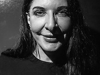 "Maria Abramovic, poses for a portrait for her ,,With Eyes Closed I See Happiness ? ,, exhibition at Galerie Krinzinger in Vienna. Abramovic work explores the relationship between performer and audience, the limits of the body, and the possibilities of the mind. At her latest MoMA's exhibit ,,Marina Abramovic: The Artist Is Present,, she attempt to go the limit, and also to reproduce literally the metaphysical interchange between artists and viewers.between performer and audience, the limits of the body, and the possibilities of the mind. At her latest MoMA's exhibit ""Marina Abramovic: The Artist Is Present"" she attempt to go the limit, and also to reproduce literally the metaphysical interchange between artists and viewers."