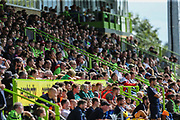 The East Stand at The New Lawn, home of Forest Green Rovers during the EFL Sky Bet League 2 match between Forest Green Rovers and Grimsby Town FC at the New Lawn, Forest Green, United Kingdom on 17 August 2019.