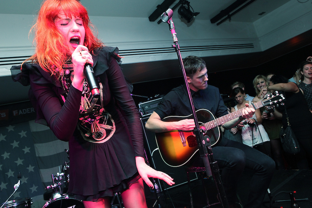 "NEW YORK - OCTOBER 24:  Florence Welch of Florence and the Machine performs onstage at Levi's and The Fader's ""One Day Only"" at Liberty Hall at Ace Hotel on October 24, 2009 in New York City.  (Photo by Roger Kisby/Getty Images)"