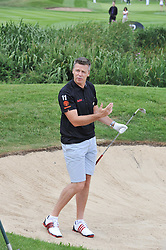 Former Javelin World Record holder STEVE BACKLEY at the Leuka Mini Masters Golf at Dukes Meadows, Chiswick, London on 15th July 2011.