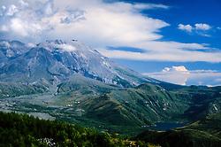 Mt. St. Helens and Alpine Lake, Mt. St. Helens National Volcanic Monument, Washington, US