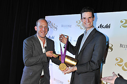 Left to right, CARLO CARELLO and PETER WILSON London 2012 Gold Medal Winner at a party to celebrate the launch of the new 2&8 club at Morton's Berkeley Square, London on 27th September 2012.