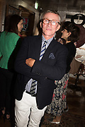 JASPER CONRAN, spotted at Bloom & Wild's exclusive event at 5 Hertford Street last night. 5 September 2017. The event was announcing the new partnership between the UK's most loved florist, Bloom & Wild and British floral design icon Nikki Tibbles Wild at Heart. Cocooned in swaths of vibrant Autumn blooms, guests enjoyed floral-inspired cocktails from Sipsmith and bubbles from Chandon, with canapés put on by 5 Hertford Street. Three limited edition bouquets from the partnership can be bought through Bloom & Wild's website from the 1st September.  bloomandwild.com/WAH