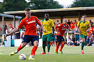 Alex Wall of Luton Town scores his hatrick to make it 0-4 during the Pre Season Friendly match at Top Field, Hitchin<br /> Picture by David Horn/Focus Images Ltd +44 7545 970036<br /> 17/07/2014