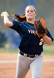 Virginia Cavaliers P Coty Tolar (2) in action against UMD.  The Virginia Cavaliers softball team fell to the Maryland Terrapins 8-3 in the second game of a doubleheader at The Park in Charlottesville, VA on March 24, 2007.