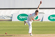 Michael Hogan bowling during the Specsavers County Champ Div 2 match between Glamorgan County Cricket Club and Leicestershire County Cricket Club at the SWALEC Stadium, Cardiff, United Kingdom on 19 September 2019.