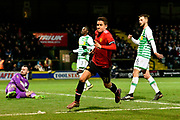 Goal - Ander Herrera (21) of Manchester United celebrates scoring a goal to give a 0-2 lead to the away team during the The FA Cup 4th round match between Yeovil Town and Manchester United at Huish Park, Yeovil, England on 26 January 2018. Photo by Graham Hunt.
