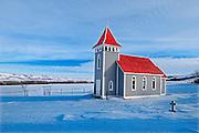 Historic St. Nicholas Anglican Church in Qu' Appelle Valley<br /> near Craven<br /> Saskatchewan<br /> Canada