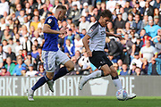 Derby County forward Chris Martin runs at goal during the EFL Sky Bet Championship match between Derby County and Birmingham City at the Pride Park, Derby, England on 28 September 2019.