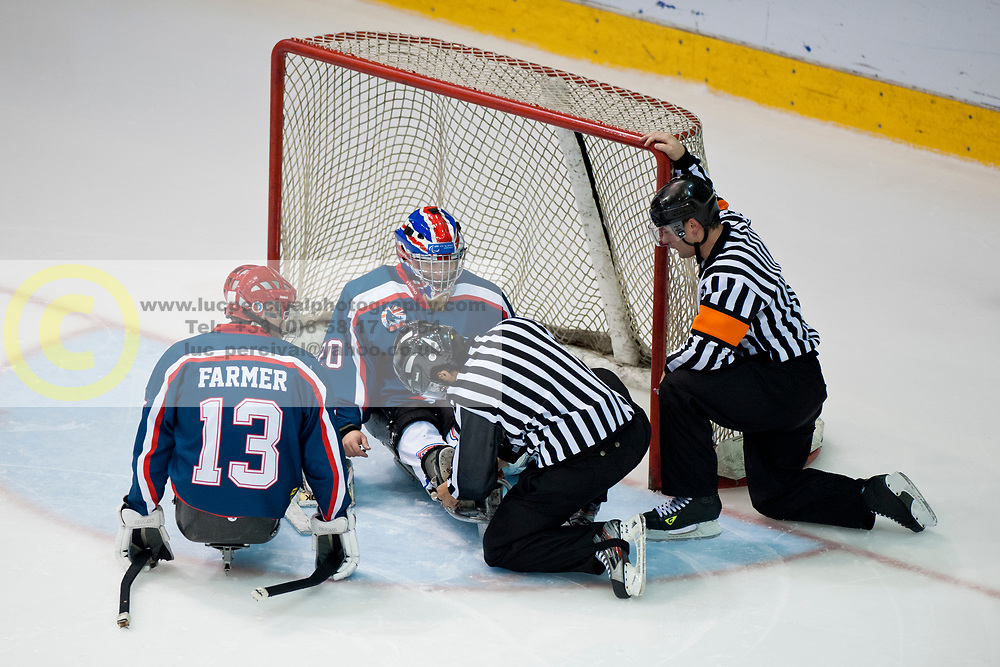 GBR v GER during the 2013 World Para Ice Hockey Qualifiers for Sochi, Torino, Italy