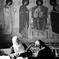 Neamt County, Romania, July 2007<br /> Father Tarasie performs an exorcism session.<br /> Photo: Ezequiel Scagnetti