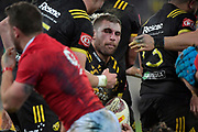 Hurricanes&rsquo; Callum Gibbins in action during the New Zealand Lions Series - Hurricanes v British and Irish Lions at Westpac Stadium, Wellington, New Zealand on Tuesday 27 June 2017.<br /> Photo by Masanori Udagawa<br /> www.photowellington.photoshelter.com.