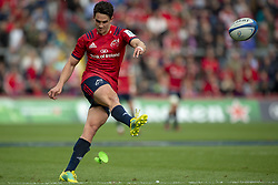 October 20, 2018 - Limerick, Ireland - Joey Carbery of Munster scores a conversion during the Heineken Champions Cup match between Munster Rugby and Gloucester Rugby at Thomond Park in Limerick, Ireland on October 20, 2018  (Credit Image: © Andrew Surma/NurPhoto via ZUMA Press)