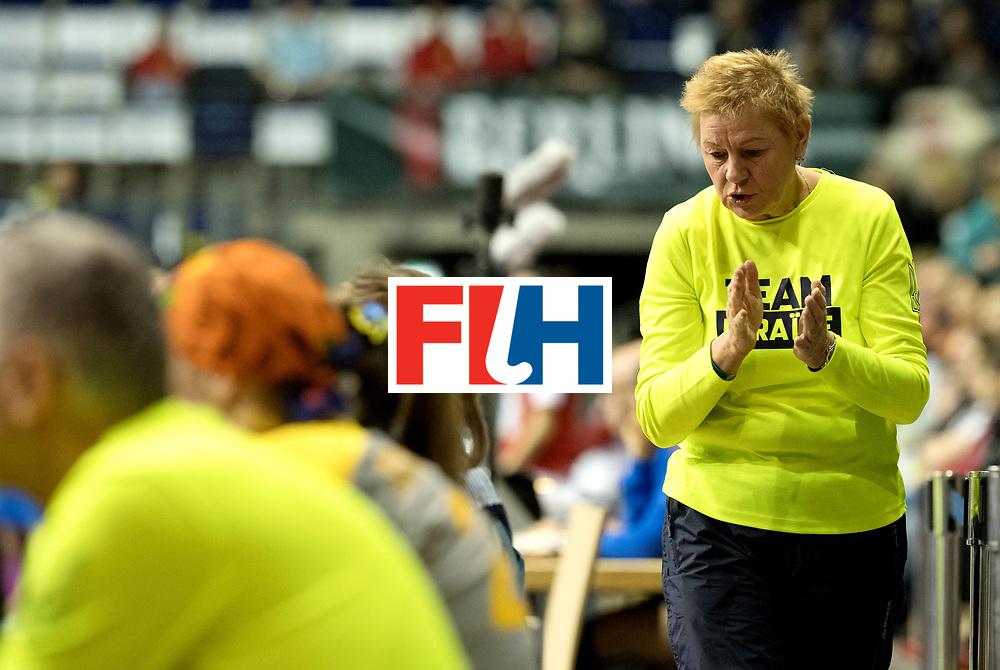 BERLIN - Indoor Hockey World Cup<br /> Quarterfinal 2: Ukraine - Switzerland<br /> foto: MAKAIEVA Svitlana.<br /> WORLDSPORTPICS COPYRIGHT FRANK UIJLENBROEK
