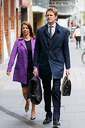 © Licensed to London News Pictures. 20/05/2015. London, UK. Gloria De Piero and Tristram Hunt, Labour's Shadow Secretary for Education arriving at Magdalen House in London on Wednesday 20 May 2015. Tristram Hunt rules out standing for Labour Party leader and gives his support to Liz Kendall. Photo credit : Tolga Akmen/LNP