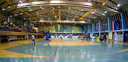 View on Sport hall Kamnik during volleyball match between Calcit Volleyball and A. Linz-Steg in Mevza league on October 23, 2010 at Sport Halli, Kamnik, Slovenia. (Photo By Matic Klansek Velej / Sportida.com)