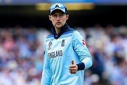 Joe Root of England - Mandatory by-line: Robbie Stephenson/JMP - 14/07/2019 - CRICKET - Lords - London, England - England v New Zealand - ICC Cricket World Cup 2019 - Final