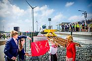 Koning opent nieuwe Groningse spoorlijn