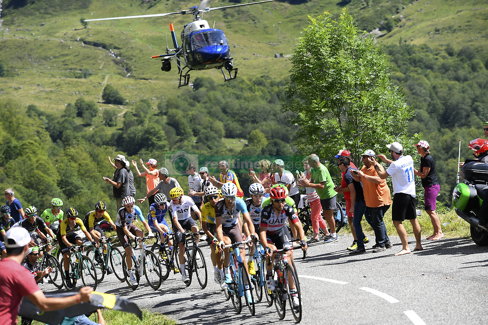 July 14, 2017 - Foix, France - Foix, France - July 14 : BARDET Romain of AG2R La Mondiale, FROOME Christopher of Team Sky, ARU Fabio of Astana Pro Team during stage 13 of the 104th edition of the 2017 Tour de France cycling race, a stage of 101 kms between Saint-Girons and Foix on July 14, 2017 in Foix, France, 14/07/2017 (Credit Image: © Panoramic via ZUMA Press)