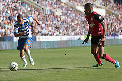 Reading's Jobi McAnuff and Ipswich Town's Tyrone Mings - Photo mandatory by-line: Nigel Pitts-Drake/JMP - Tel: Mobile: 07966 386802 03/08/2013 - SPORT - FOOTBALL -  Madejski Stadium - Reading -  Reading v Ipswich Town - Sky Bet Championship