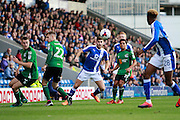 Chesterfield's Ched Evans (9) during the EFL Sky Bet League 1 match between Chesterfield and Scunthorpe United at the b2net stadium, Chesterfield, England on 22 October 2016. Photo by Richard Holmes.