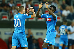 August 22, 2017 - Nice, France - Marko Rog of Napoli and Amadou Diawara of Napoli  celebrate during the UEFA Champions League Qualifying Play-Offs round, second leg match, between OGC Nice and SSC Napoli at Allianz Riviera Stadium on August 22, 2017 in Nice, France. (Credit Image: © Matteo Ciambelli/NurPhoto via ZUMA Press)