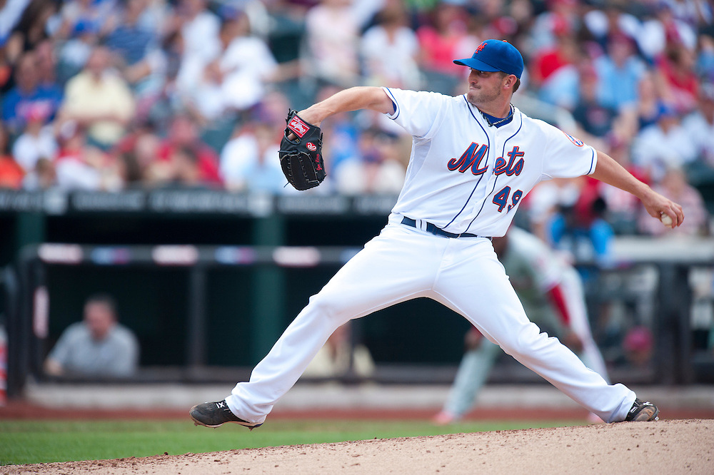 NEW YORK - JULY 16: Jonathon Niese #49 of the New York Mets pitches during the game against the Philadelphia Phillies at Citi Field on July 16, 2011 in the Queens borough of Manhattan. (Photo by Rob Tringali) *** Local Caption *** Jonathon Niese