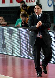 Head coach of Lottomatica Saso Filipovski during Euroleague Top 16 basketball match between Lottomatica Virtus Roma (ITA) and KK Union Olimpija Ljubljana (SLO) in Group F, on January 20, 2011 in Arena PalaLottomatica, Rome, Italy. (Photo By Vid Ponikvar / Sportida.com)